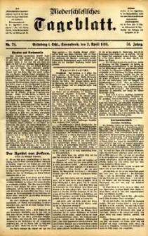 Niederschlesisches Tageblatt, no 78 (Grünberg i. Schl., Sonnabend, den 2. April 1898)