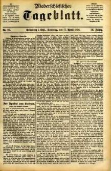 Niederschlesisches Tageblatt, no 89 (Grünberg i. Schl., Sonntag, den 17. April 1898)