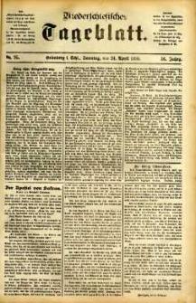 Niederschlesisches Tageblatt, no 95 (Grünberg i. Schl., Sonntag, den 24. April 1898)