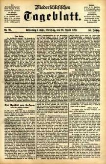 Niederschlesisches Tageblatt, no 96 (Grünberg i. Schl., Dienstag, den 26. April 1898)
