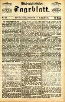 Niederschlesisches Tageblatt, no 100 (Grünberg i. Schl., Sonnabend, den 30. April 1898)