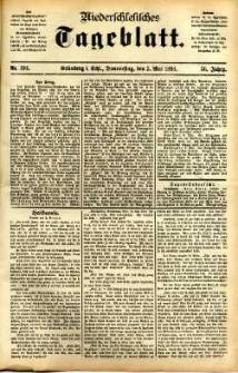Niederschlesisches Tageblatt, no 104 (Grünberg i. Schl., Donnerstag, den 5. Mai 1898)