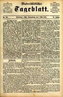 Niederschlesisches Tageblatt, no 107 (Grünberg i. Schl., Sonnabend, den 6. Mai 1898)