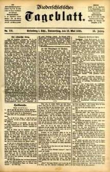 Niederschlesisches Tageblatt, no 110 (Grünberg i. Schl., Donnerstag, den 12. Mai 1898)