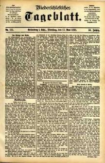 Niederschlesisches Tageblatt, no 114 (Grünberg i. Schl., Dienstag, den 17. Mai 1898)