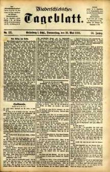 Niederschlesisches Tageblatt, no 121 (Grünberg i. Schl., Donnerstag, den 26. Mai 1898)