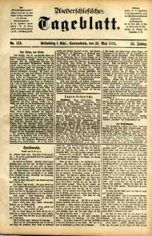Niederschlesisches Tageblatt, no 123 (Grünberg i. Schl., Sonnabend, den 28. Mai 1898)
