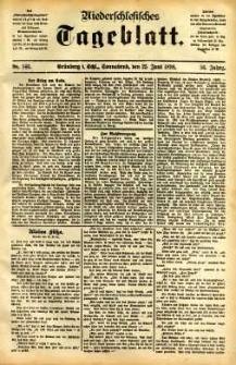 Niederschlesisches Tageblatt, no 146 (Grünberg i. Schl., Sonnabend, den 25. Mai 1898)