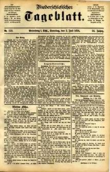 Niederschlesisches Tageblatt, no 153 (Grünberg i. Schl., Sonntag, den 3. Juli 1898)