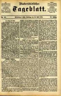 Niederschlesisches Tageblatt, no 163 (Grünberg i. Schl., Freitag, den 15. Juli 1898)