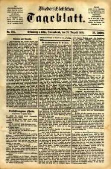 Niederschlesisches Tageblatt, no 194 (Grünberg i. Schl., Sonnabend, den 20. August 1898)