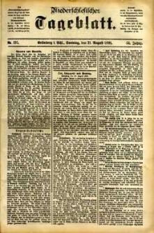 Niederschlesisches Tageblatt, no 195 (Grünberg i. Schl., Sonntag, den 21. August 1898)