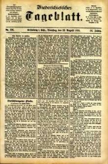 Niederschlesisches Tageblatt, no 196 (Grünberg i. Schl., Dienstag, den 23. August 1898)