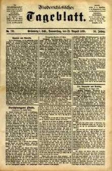 Niederschlesisches Tageblatt, no 198 (Grünberg i. Schl., Donnerstag, den 25. August 1898)