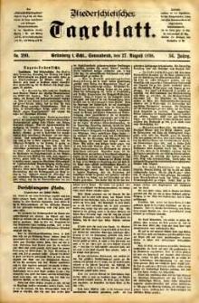 Niederschlesisches Tageblatt, no 200 (Grünberg i. Schl., Sonnabend, den 27. August 1898)