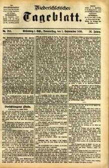 Niederschlesisches Tageblatt, no 204 (Grünberg i. Schl., Donnerstag, den 1. September 1898)