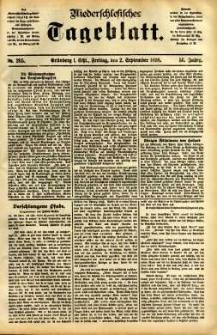 Niederschlesisches Tageblatt, no 205 (Grünberg i. Schl., Freitag, den 2. September 1898)