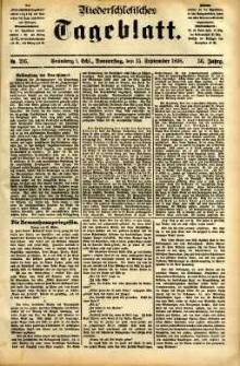 Niederschlesisches Tageblatt, no 216 (Grünberg i. Schl., Donnerstag, den 15. September 1898)