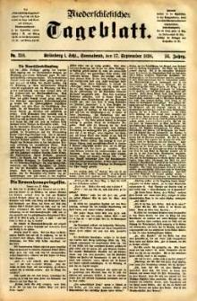 Niederschlesisches Tageblatt, no 218 (Grünberg i. Schl., Sonnabend, den 17. September 1898)