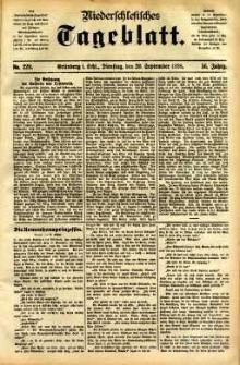 Niederschlesisches Tageblatt, no 220 (Grünberg i. Schl., Dienstag, den 20. September 1898)