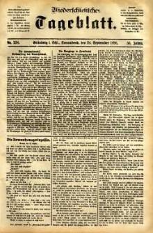 Niederschlesisches Tageblatt, no 224 (Grünberg i. Schl., Sonnabend, den 24. September 1898)