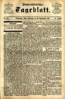Niederschlesisches Tageblatt, no 225 (Grünberg i. Schl., Sonntag, den 25. September 1898)