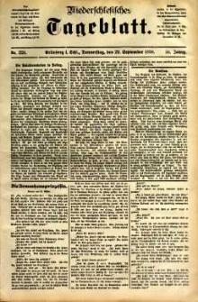 Niederschlesisches Tageblatt, no 228 (Grünberg i. Schl., Donnerstag, den 29. September 1898)