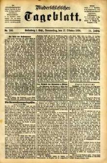 Niederschlesisches Tageblatt, no 240 (Grünberg i. Schl., Donnerstag, den 13. Oktober 1898)