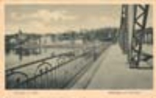Krosno Odrzańskie / Crossen a. Oder; Oderbrücke und Berglehne; Most na Odrze i wzgórze
