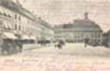 Krosno Odrzańskie / Crossen a. O.; Markt mit Rathaus; Rynek z ratuszem