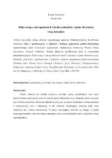 Kilka uwag o antroponimach Górali czadeckich z gminy Brzeźnica (woj. lubuskie)