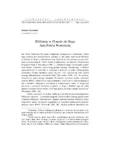 """Biblizmy w """"Hymnie do Boga"""" Jana Pawła Woronicza"""