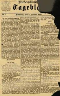 Niederschlesisches Tageblatt, no 7 (Mittwoch, den 9. Januar 1884)