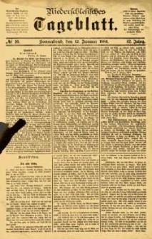 Niederschlesisches Tageblatt, no 10 (Sonnabend, den 12. Januar 1884)