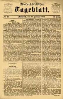 Niederschlesisches Tageblatt, no 13 (Mittwoch, den 16. Januar 1884)