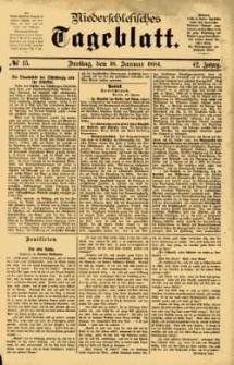 Niederschlesisches Tageblatt, no 15 (Freitag, den 18. Januar 1884)