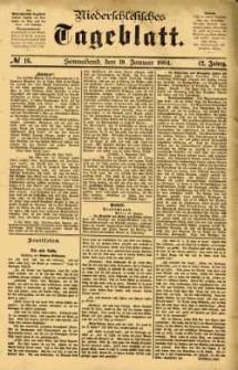 Niederschlesisches Tageblatt, no 16 (Sonnabend, den 19. Januar 1884)