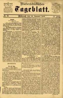 Niederschlesisches Tageblatt, no 19 (Mittwoch, den 23. Januar 1884)
