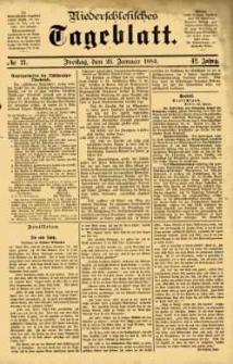 Niederschlesisches Tageblatt, no 21 (Freitag, den 25. Januar 1884)