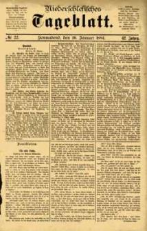 Niederschlesisches Tageblatt, no 22 (Sonnabend, den 26. Januar 1884)