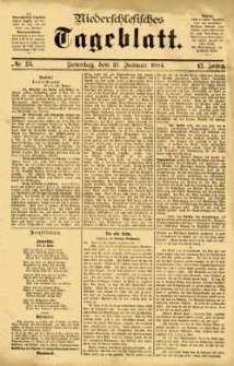 Niederschlesisches Tageblatt, no 23 (Sonntag, den 27. Januar 1884)