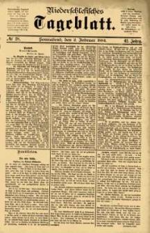Niederschlesisches Tageblatt, no 28 (Sonnabend, den 2. Februar 1884)