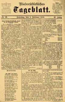 Niederschlesisches Tageblatt, no 29 (Sonntag, den 3. Februar 1884)