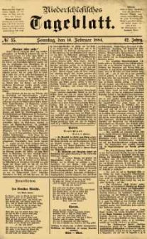 Niederschlesisches Tageblatt, no 35 (Sonntag, den 10. Februar 1884)