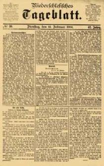 Niederschlesisches Tageblatt, no 36 (Dienstag, den 12. Februar 1884)