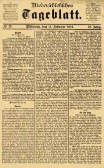 Niederschlesisches Tageblatt, no 37 (Mittwoch, den 13. Februar 1884)