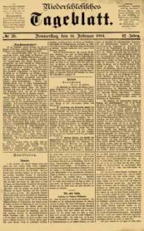 Niederschlesisches Tageblatt, no 38 (Donnerstag, den 14. Februar 1884)