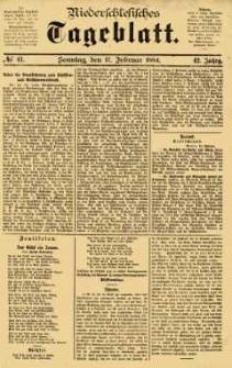 Niederschlesisches Tageblatt, no 41 (Sonntag, den 17. Februar 1884)