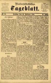 Niederschlesisches Tageblatt, no 45 (Freitag, den 22. Februar 1884)