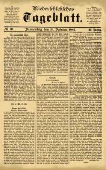 Niederschlesisches Tageblatt, no 50 (Donnerstag, den 28. Februar 1884)